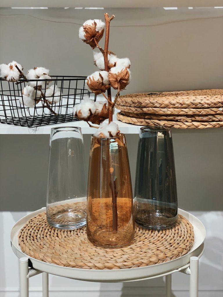 скляна ваза для сухоцвітів